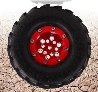 MC Beadlock Wheels AX10 SCX10 CR01 Red 4