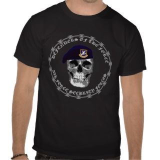 Air Force Security Skull Tee Shirts