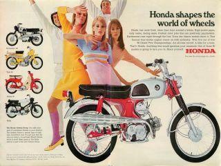 1967 Honda Ad Scrambler 160 Trail 90 Honda 50 Rally Honda Custom Group