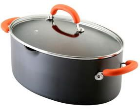 Rachael Ray Hard Anodized 8 Qt Oval Pasta Stockpot New
