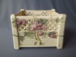 Vintage Weller Art Pottery Roma Planter Jardinere Ferner
