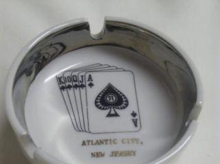 Vintage Atlantic City New Jersey Souvenir Cards Spades Ashtray