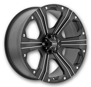Outlaw Wheels 8 Lug 165 1mm 6 5 Black Truck Rims Dodge Chevy