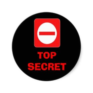 Confidential Top Secret Warning Label Sticker