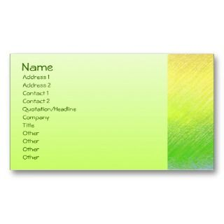 Green House Nursery & Garden Business Card