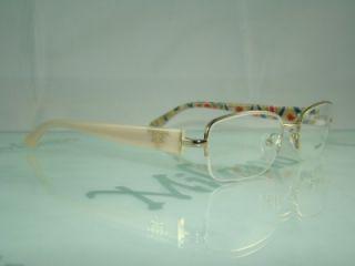 Prada VPR 52N ZVN 101 Beige Gold Half Rim Spectacles Frames Eyeglasses