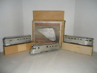 American Flyer Aluminum Zephyr. 1934 Worlds Fair Art Deco Box. Attic