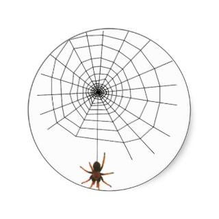 Scary spider web stickers