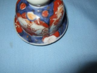 Good Old Pair of Oriental Handpainted Imari Covered Jars Vases
