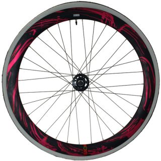 Fixie Single Speed Road Bike Track Wheel Wheelset Deep V Tyres Pink
