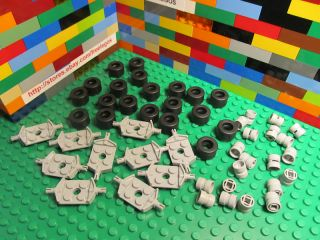 Lego Lot of Wheels Rims Tires Qty x 50 Pieces New Hard to Find Gray