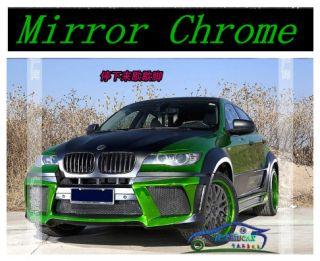 Green Mirror Chrome Wrapping Vinyl Film Air Release 24 X60 60cm x