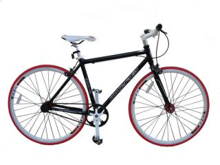 53cm Fixed Fixie Gear Road Black New Bike Bicycle