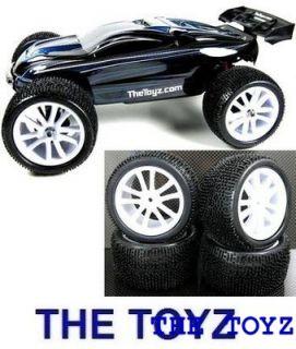 Traxxas Mini 1 16 Revo White Rim and Tire Set by The Toyz 201