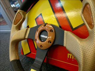 New Genuine Momo Steering Wheel Jet Gold Italy Sports