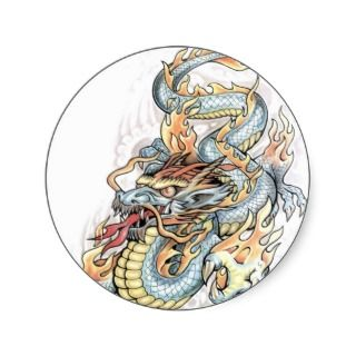 dragon tattoo design stickers