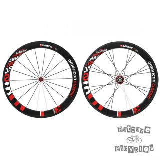 New American Classic Carbon Tubular 58mm Wheelset 700c s 8 10 F R