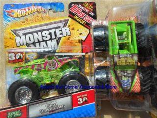Hot Wheels LIL Miss Dangerous Monster Jam Little Edge Glow Truck 164