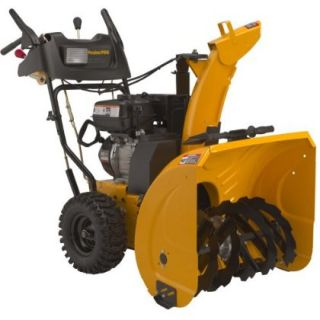 27 inch Two Stage Snow Thrower Electric Start 12 by 12 inch diameter