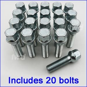 20 x Alloy Wheel Bolts for Mercedes Benz Sprinter Van 903 906 Nuts Lug