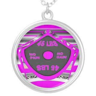 Womens Weightlifting Necklace