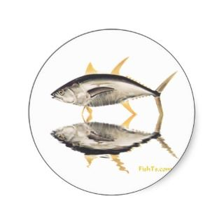 Reflections of Tuna Round Sticker