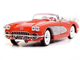 1958 Chevrolet Corvette 1 18 Scale Diecast Model Red