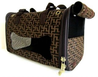 17 5 Large Pet Carrier Luggage Dog Cat Travel Case Bag Purse Tetris