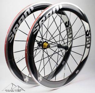 S60 Clincher Carbon Wheelset 700c Black Gray Front Rear Wheels