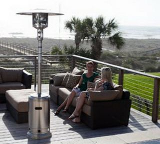 New Commercial 46 000 BTU Propane Patio Deck Heater 87 Tall Outdoor