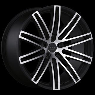 x8.5 RUFF RACING R955 BLACK MACH 5X112 W/ 38 ET (R955KL5E38K73) RIMS