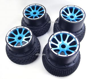 New Alloy F R Wheel Rim Tire Kit for HPI Baja 5B 5B SS