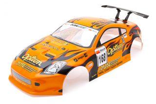 Radio Control RC Car 1 10 Nissan 350Z Body Shell Orange 190mm S004O