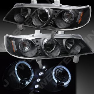 UP FOR AUCTION (PAIR) 1994 1997 HONDA ACCORD JDM BLACK HALO PROJECTOR