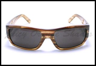 Biker Style Mens Designer Fashion Sunglasses Wood Brown
