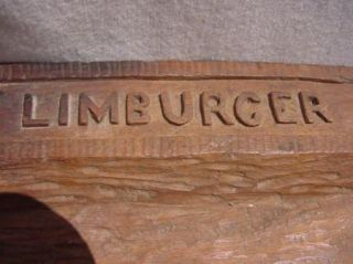 Hand Carved Wooden Cheese Tray