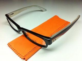 ARMANI EXCHANGE AX233 1GS Black / Tan + Clear Demo RX Eyeglasses * NEW