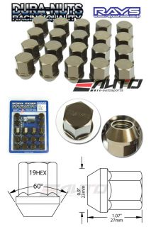 20pc Rays 27mm Short Type Dura Rim Wheel Lock Lug Nut 12x1 5 Bronze