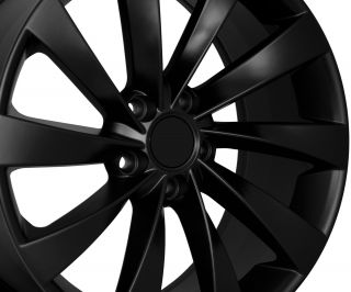 18 VW Turbine Style Matte Black Wheels Rims Fit VW Golf Rabbit GTI