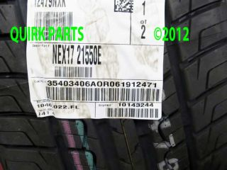 Genuine OEM Nexen CP641 215/50R17/91V Tire. This is the OEM tire for