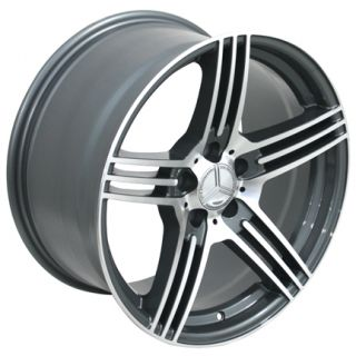 Gunmetal AMG Wheels Set of 4 Rims Fit Mercedes C E s Class SLK