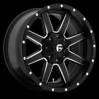 x9 FUEL MAVERICK BLACK MILLED 6X135 W/ 1 ET (D53820909850) WHEELS RIMS