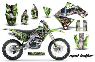 OFF ROAD NUMBER PLATE DECAL STICKER WRAP KAWASAKI KXF 250 09 12 MTGSS
