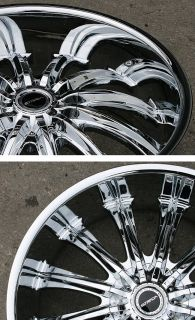 Strada Corona 24 Chrome Rims Wheels Nissan Titan Truck