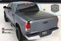 Smittybilt 2640011 05 11 Toyota Tacoma 5ft Bed Trifold Tonneau Cover