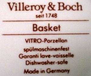 Villeroy Boch China Basket Pattern Creamer Cream Pitcher Jug