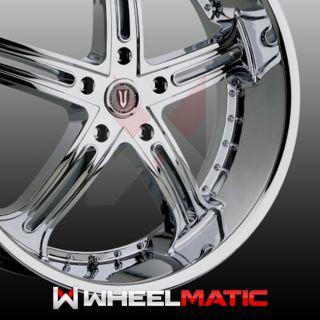 Set of 4 New 26 Versante 226 5x139 7 15 Wheels Rims Chrome