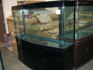 210 Gallon New Black Luster Bow Front High Fish Tank