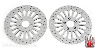 11 8 Brake Rotors Front Rear Fit Harley Touring FLHT FLHTC 08 Up Dyna
