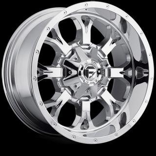 18 x9 Fuel Krank Chrome 8x180 w 1 Et D51618901850 Wheels Rims